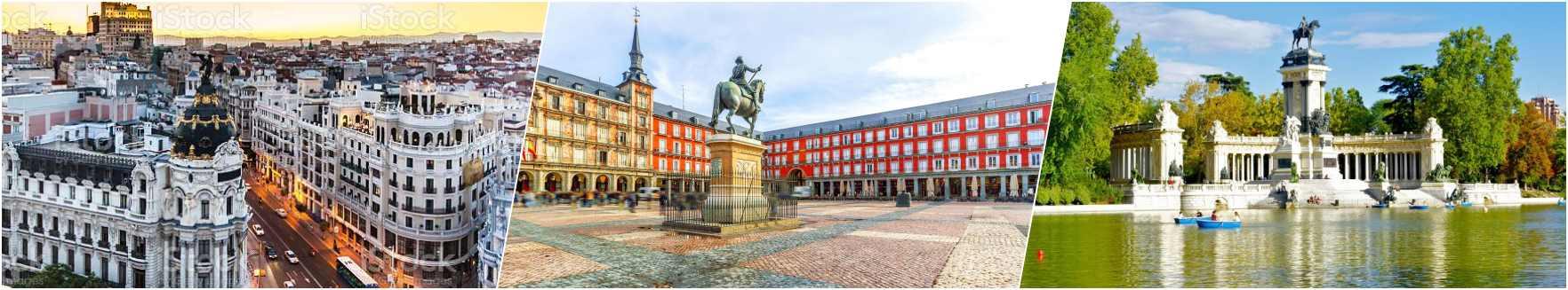 Gran Via Madrid - Plaza Mayor - Retiro Park