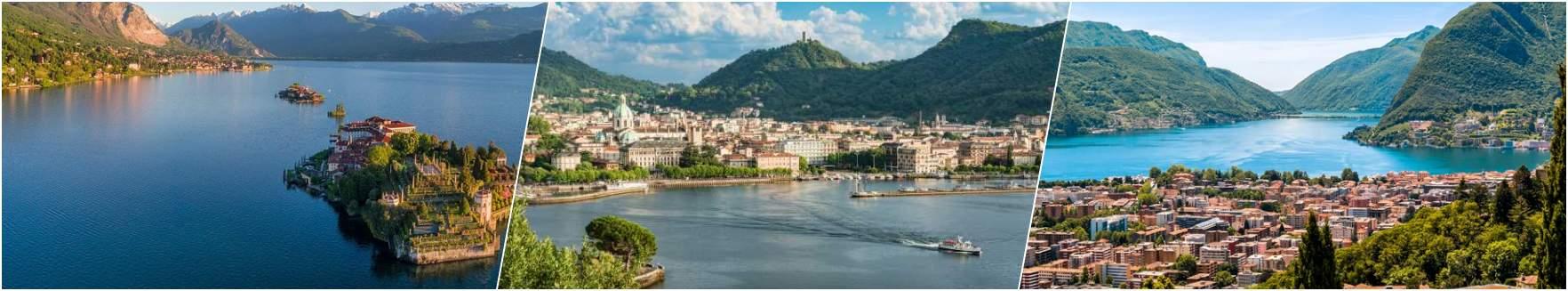 Lake Maggiore - Lake Como - Lugano