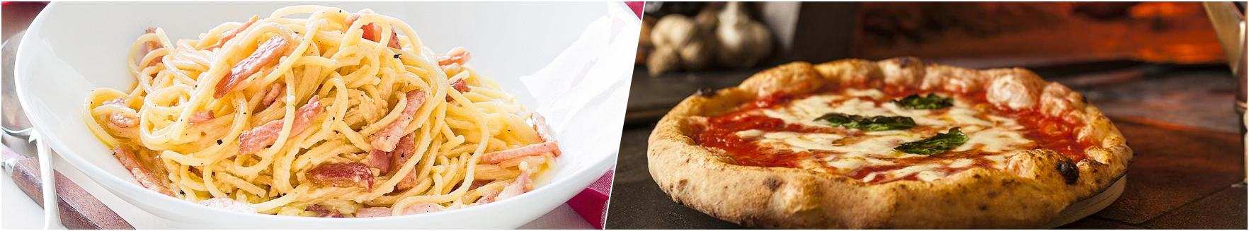 Pasta Carbonara - Pizza Margherita