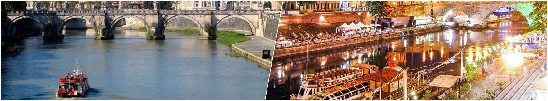 Tiber Cruise - Rome by night